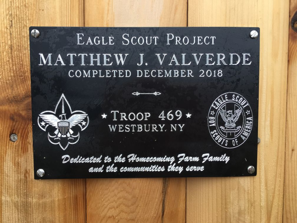 Eagle Scout project plaque